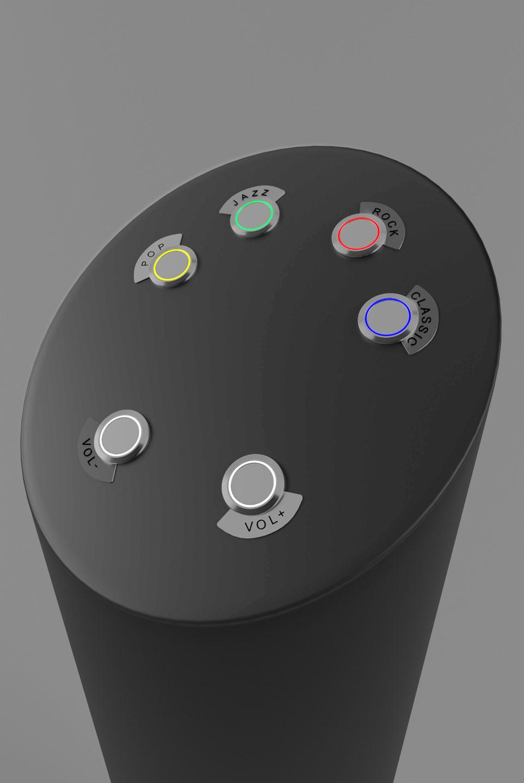 Новая стойка Aleba DoorTube для управления мультимедийным оборудованием. Вид сверху